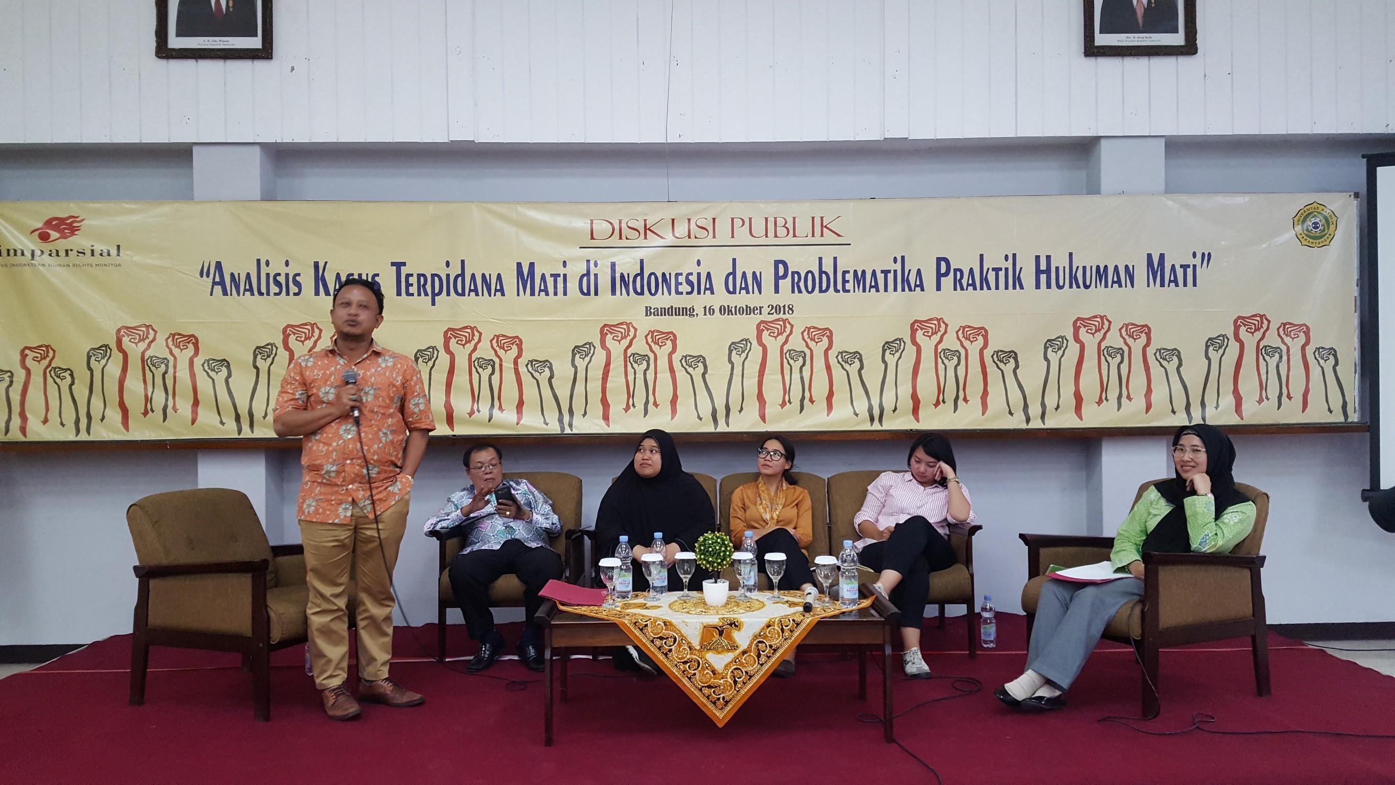 """Diskusi Publik """"Analisis Kasus Terpidana Mati di Indonesia dan Problematika Praktik Hukuman Mati"""" (Kerjasama IMPARSIAL dengan Fakultas Hukum UNPAR)"""