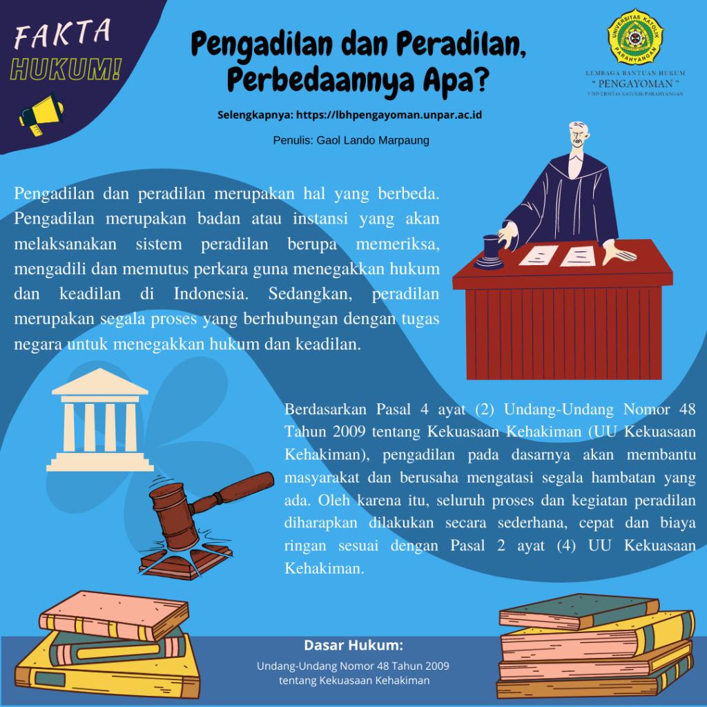 Pengadilan dan Peradilan, Perbedaanya Apa?